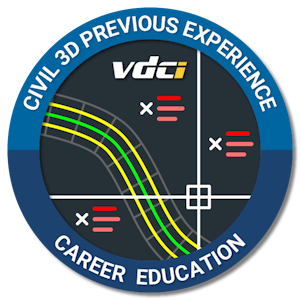 Civil 3D Previous Experience Certification Digital Badge